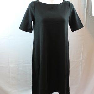 Gap Black Dress Short Sleeve Hi Lo Cotton S NEW